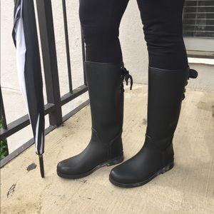 Coach Tristee Rainboot Mat Rub Black Size 8M